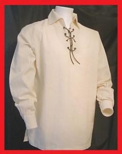 A cream-shirt