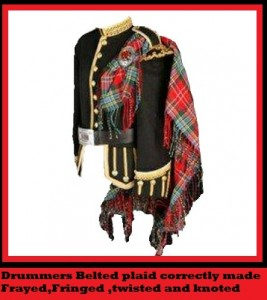 Drummers-Belted-Plaid  correctly made to order