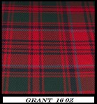 Pipers Plaid   Grant  Red Modern16 oz Tartan