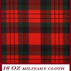 Pipers Plaid Red MacDuff  16  oz Military Tartan