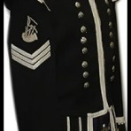 Military Style Doublet Black with Silver or white Braid