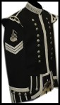 Military Guards  Doublet Black with Silver or white Braid