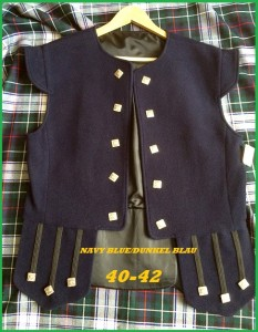 Waistcoat Chieftain or Edinburgh 1  Blue size L 40-42