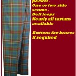 Tartan Trousers and trews. From € 230,00