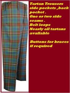 Trousers tartan 1