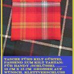 Tartan Tasche für Kilt Gürtel  /Tartan pouch for Kilt belt